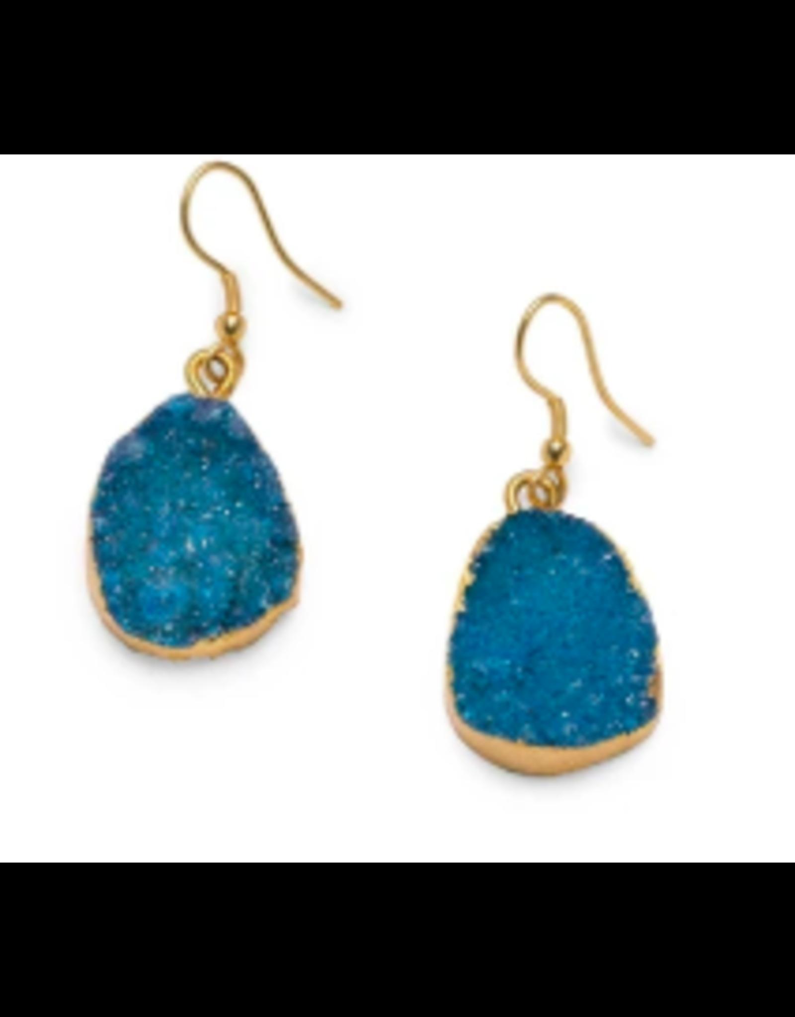 Rashima Druzy Drop Earrings LIGHT BLUE