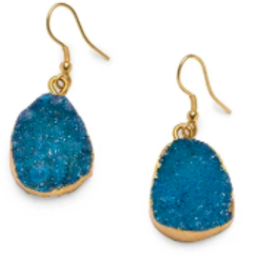 Rashima Druzy Drop Earrings LIGHT BLUE