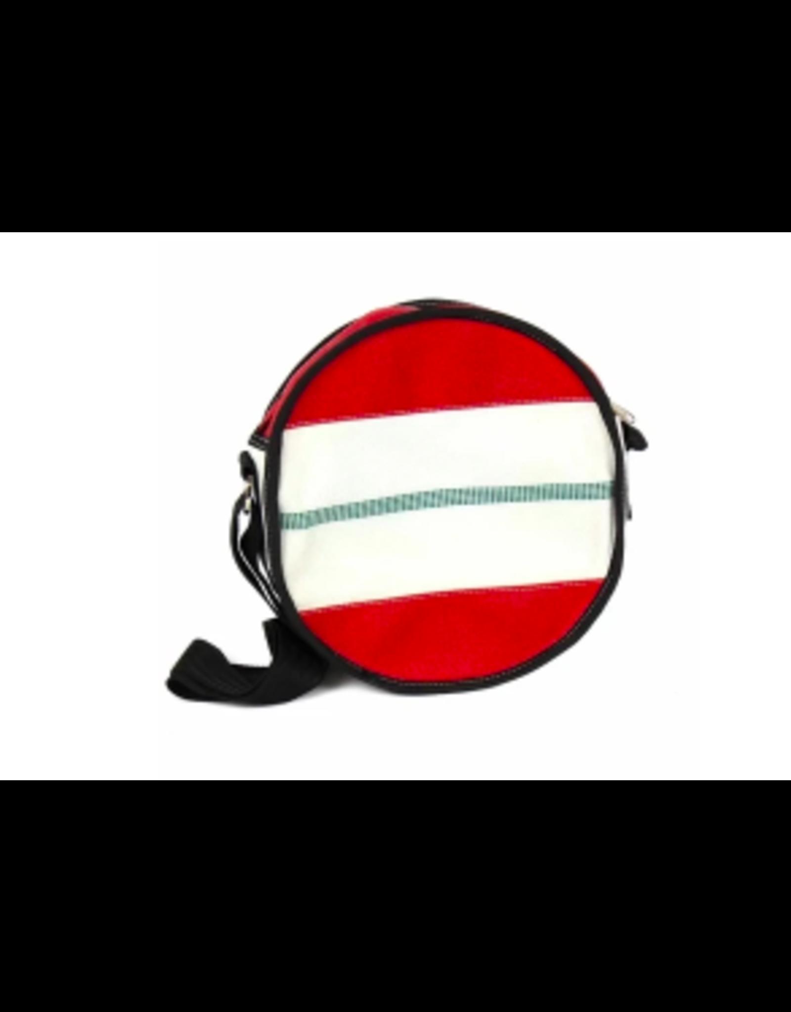 Recycled Firehose Bag Round Shoulder Bag