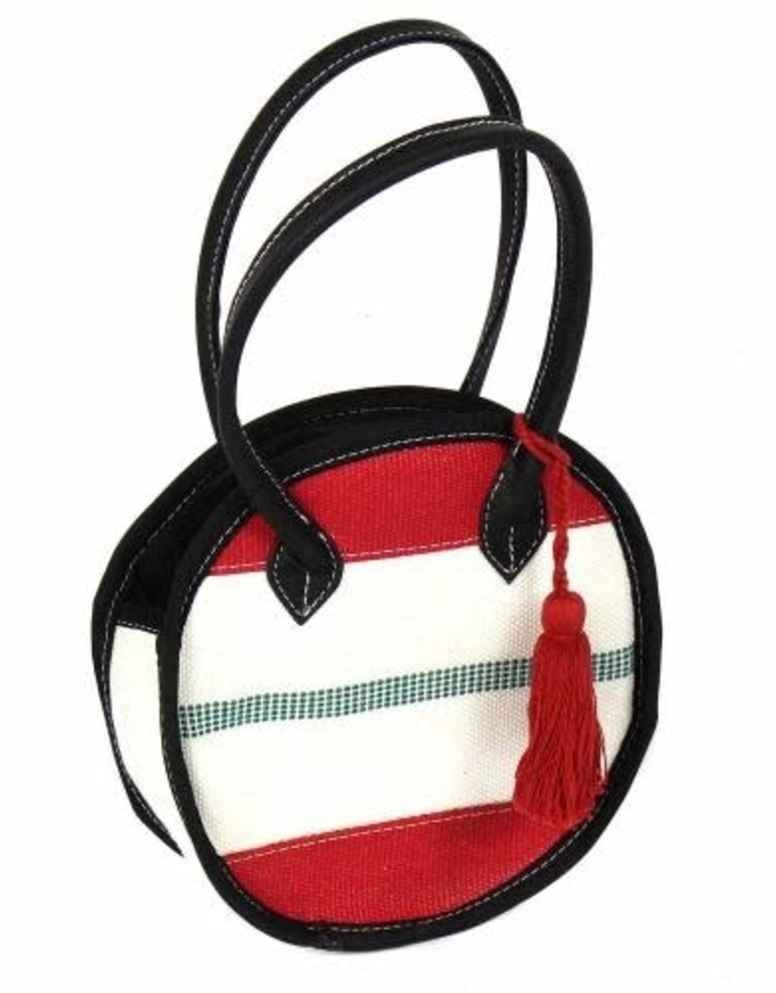Recycled Firehose Bag Small Round Clutch, india
