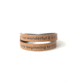 """No Need to Wait"" Leather Wrap Bracelet"