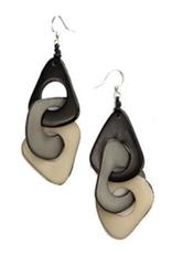 Tagua Fashion Earrings, Vero Black Combo