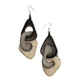 Tagua Fashion Earrings, Vero Black Combo
