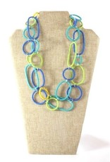 Telephone Wire, Spiral Ring Necklace Ocean