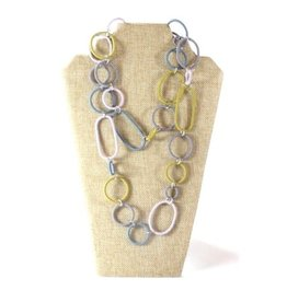 Telephone Wire, Spiral Ring Necklace Vintage