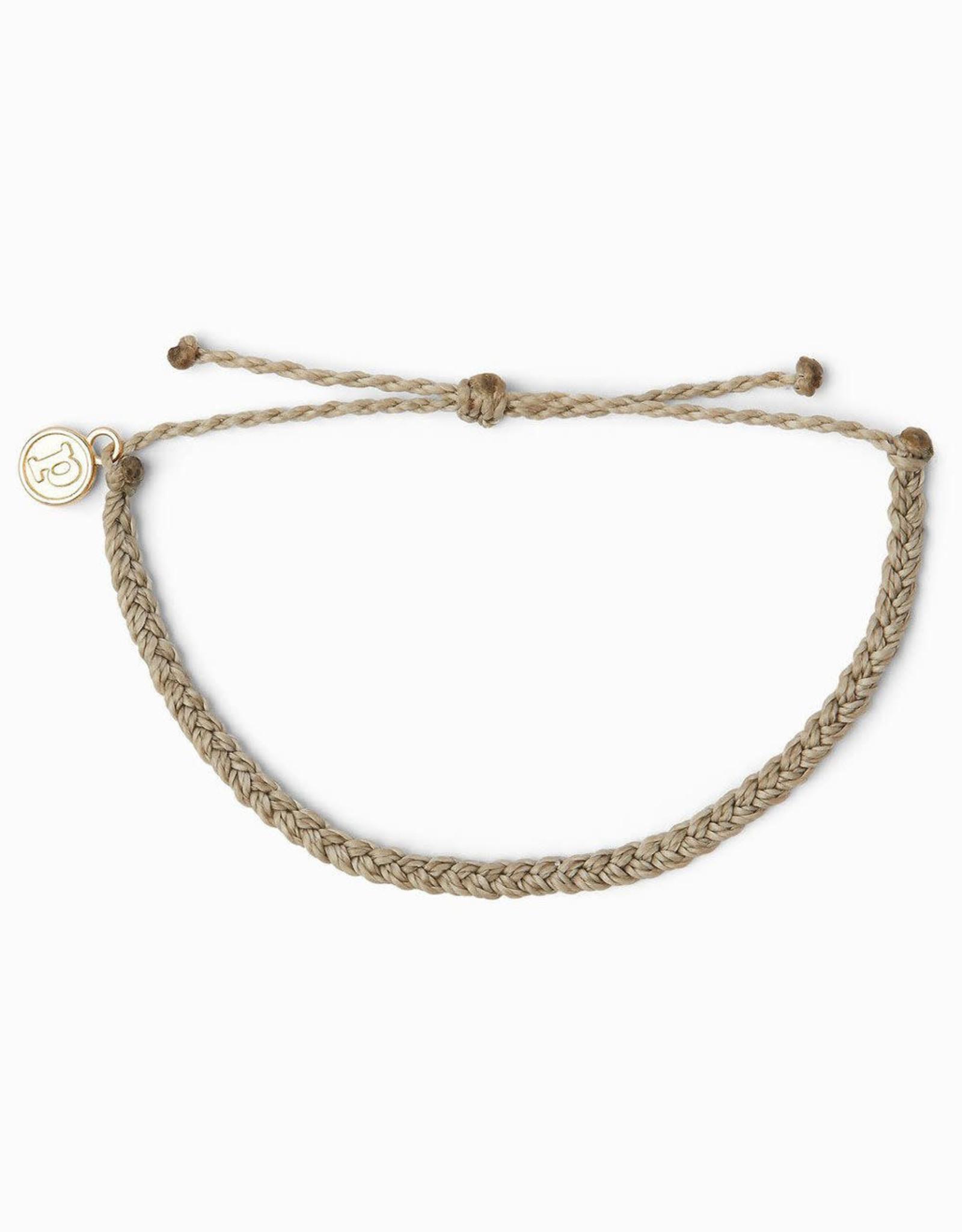MINI BRAIDED SOLID Bracelet,  LIGHT GRAY