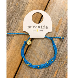 Pura Vida GOLD MALIBU Bracelet, BLUE