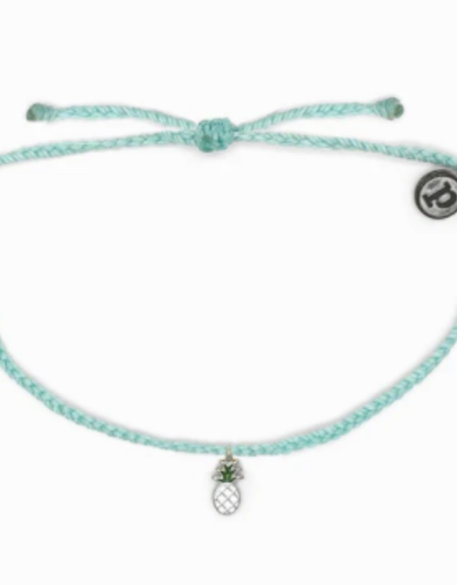 ENAMEL PINEAPPLE Bitty Charm Bracelet, SEAFOAM