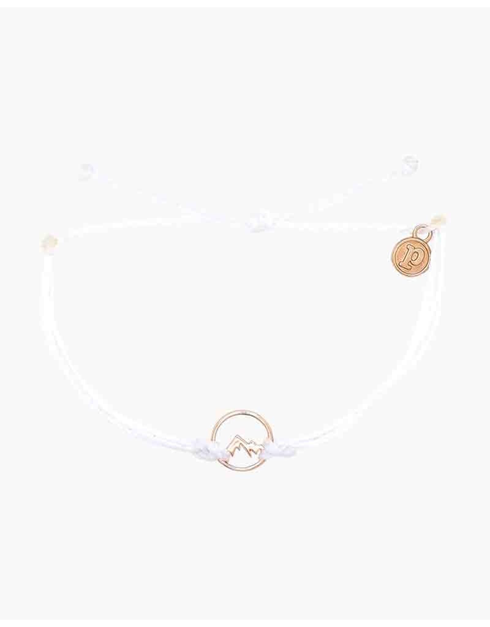 Pura Vida, Rose Gold Aspen Bracelet, White