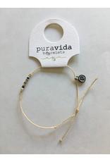 SILVER Delicate SEED BEAD Bracelet, BEIGE