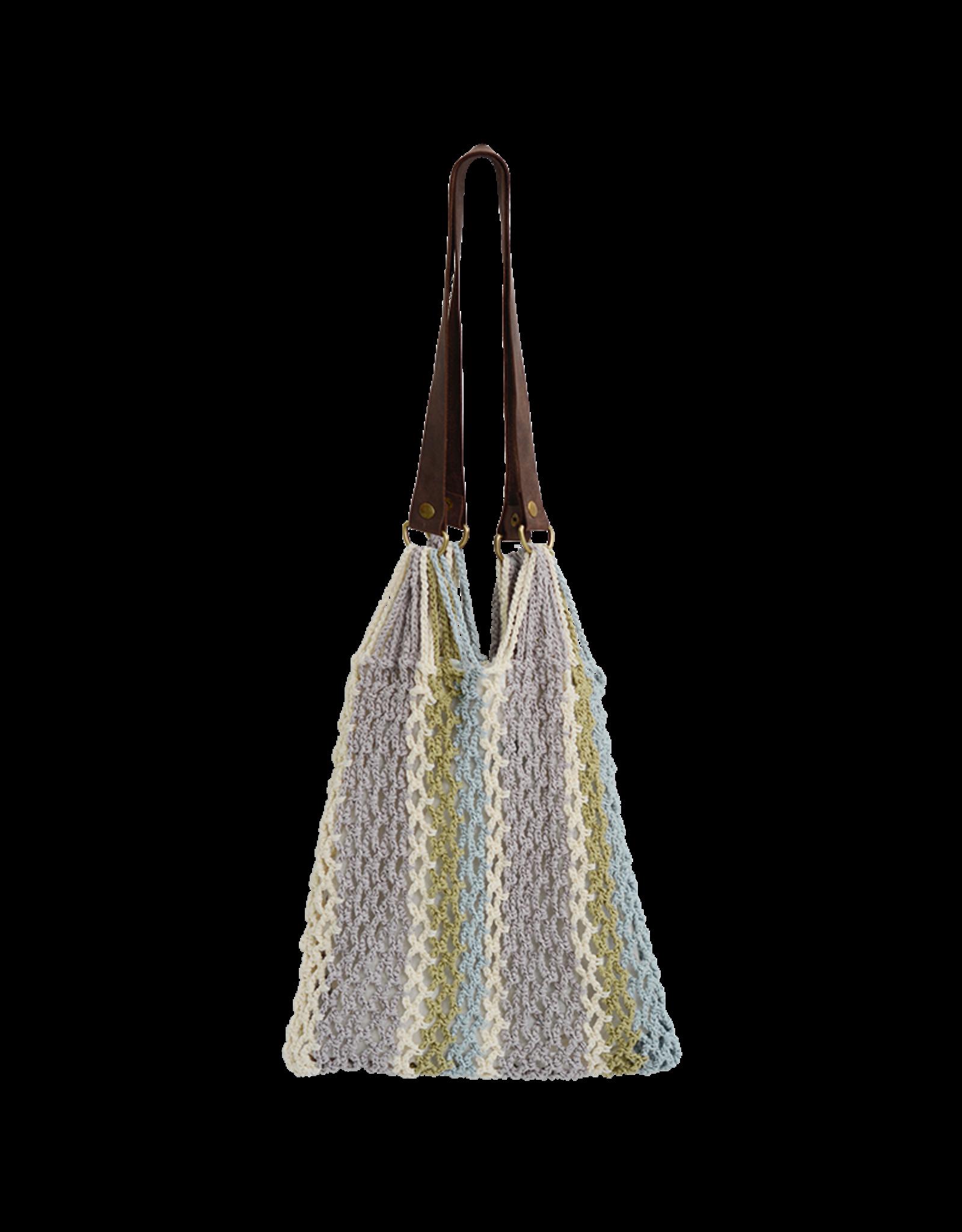 Crocheted Large Mesh Bag, Light
