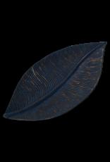 Wooden Leaf Tray, Indigo