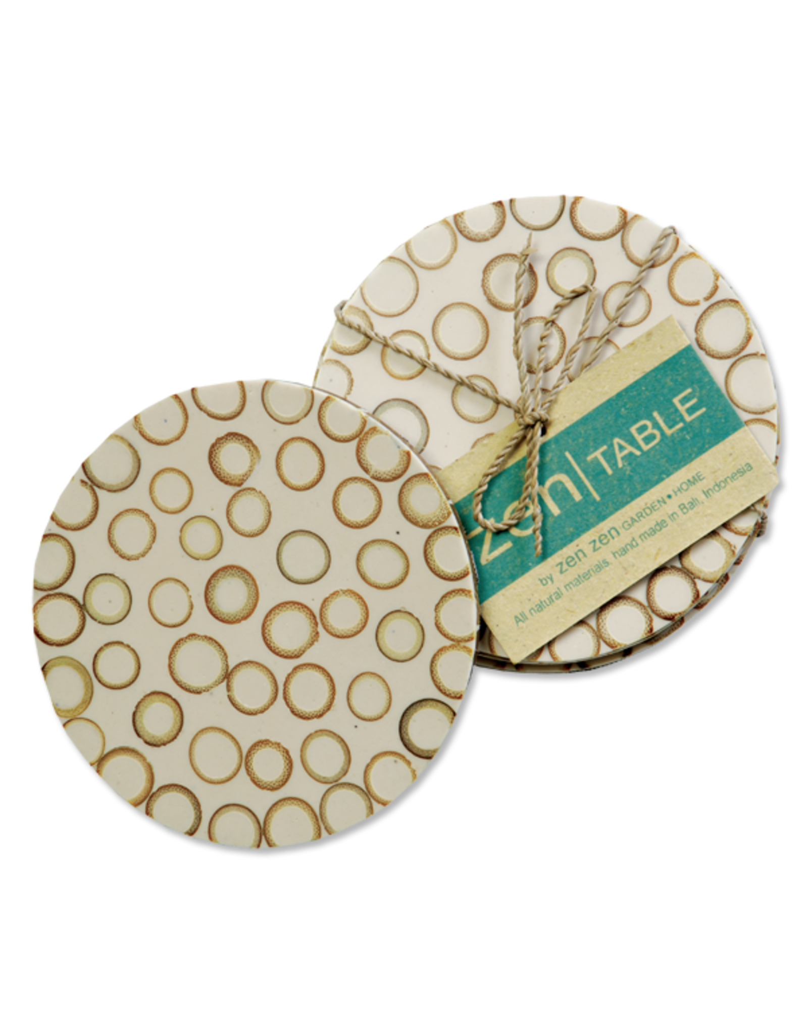 Bamboo Inlay Coasters (set of 4) Natural
