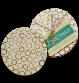 Bamboo Inlay Coasters (set of 4) Natural