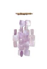 Small Square Capiz Wind Chimes,  LILAC