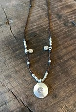 Hill Tribe,  Om and Lotus Short Necklace