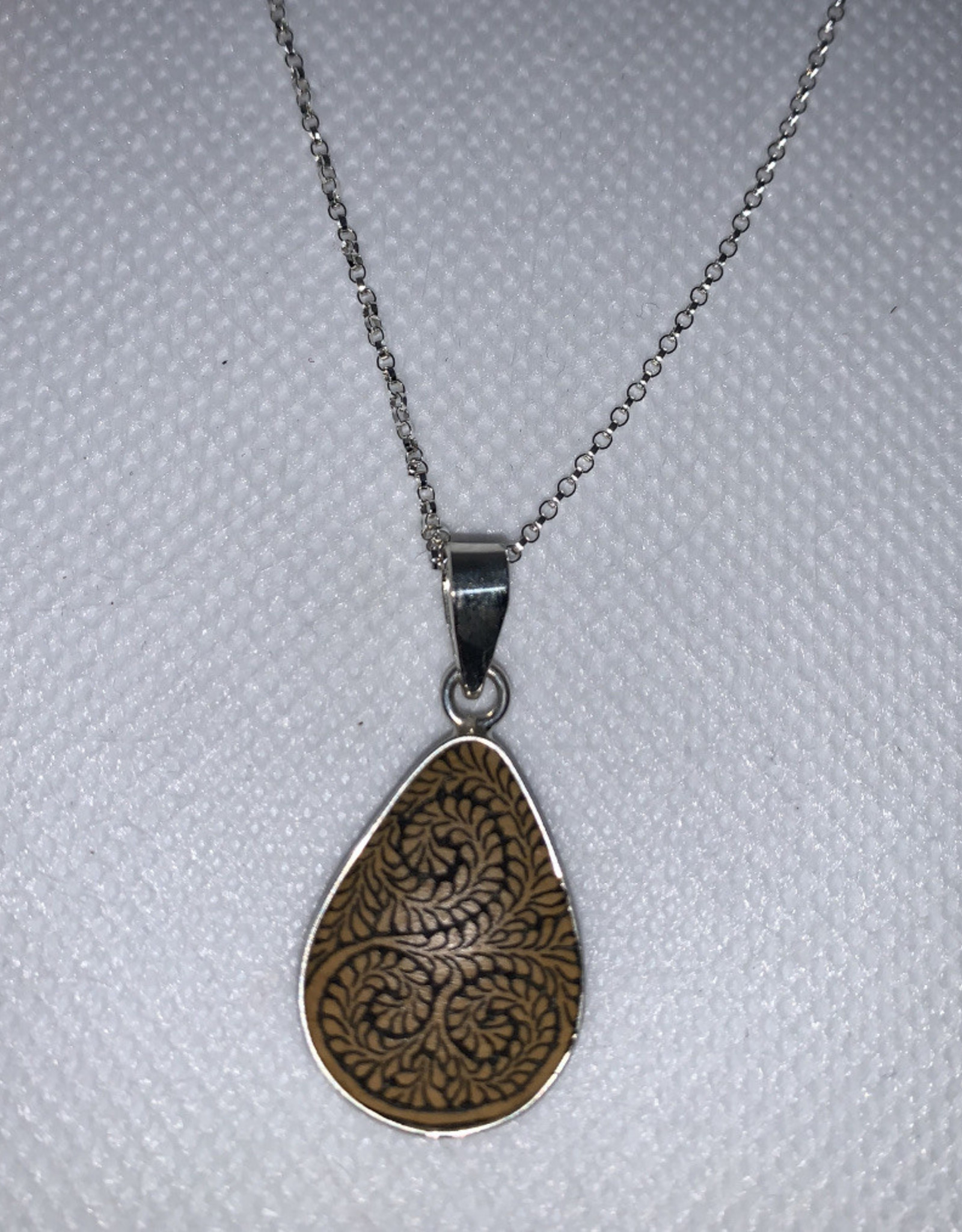 Sterling Gourd Necklace