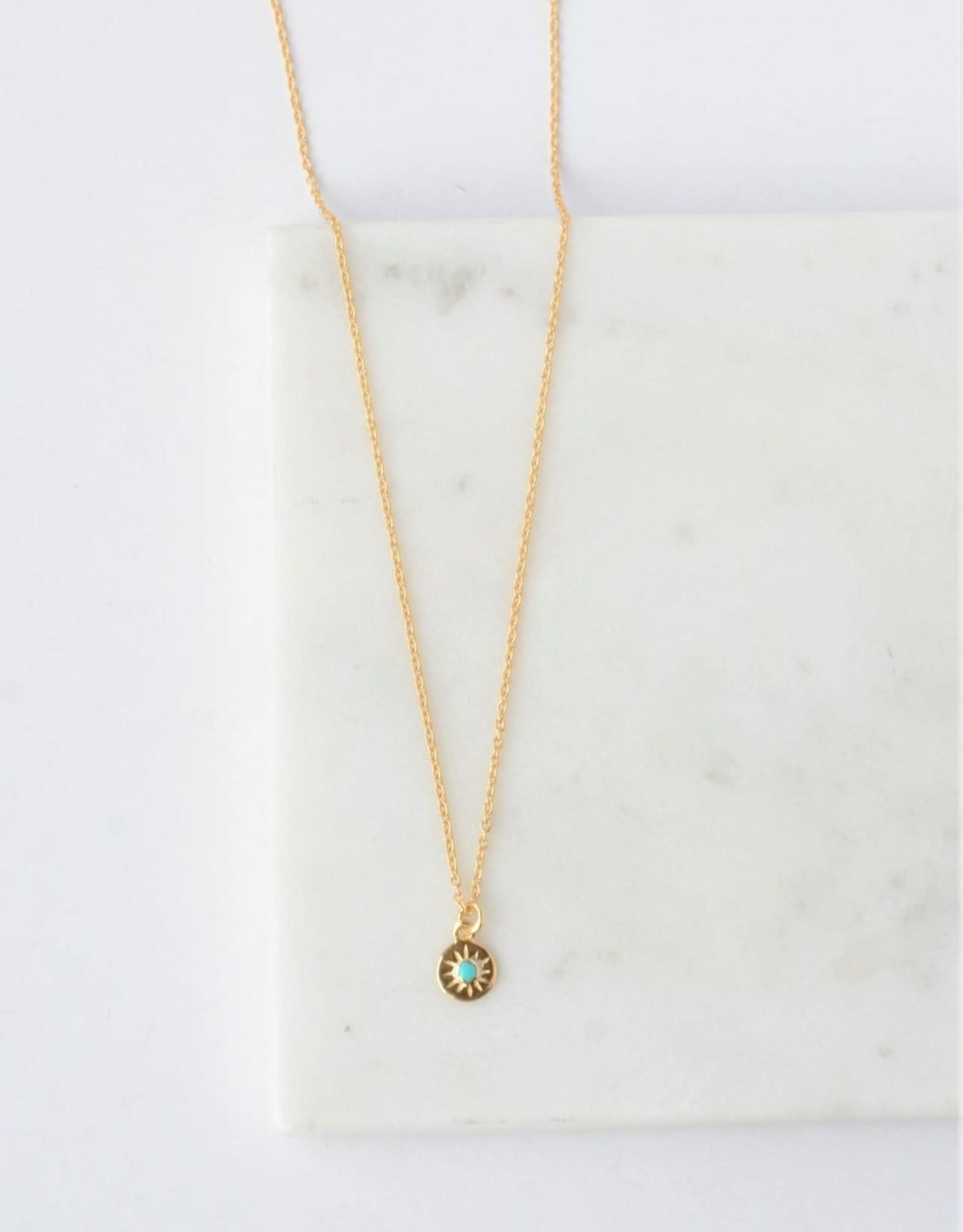 Starburst Turquoise 14kt gold Necklace