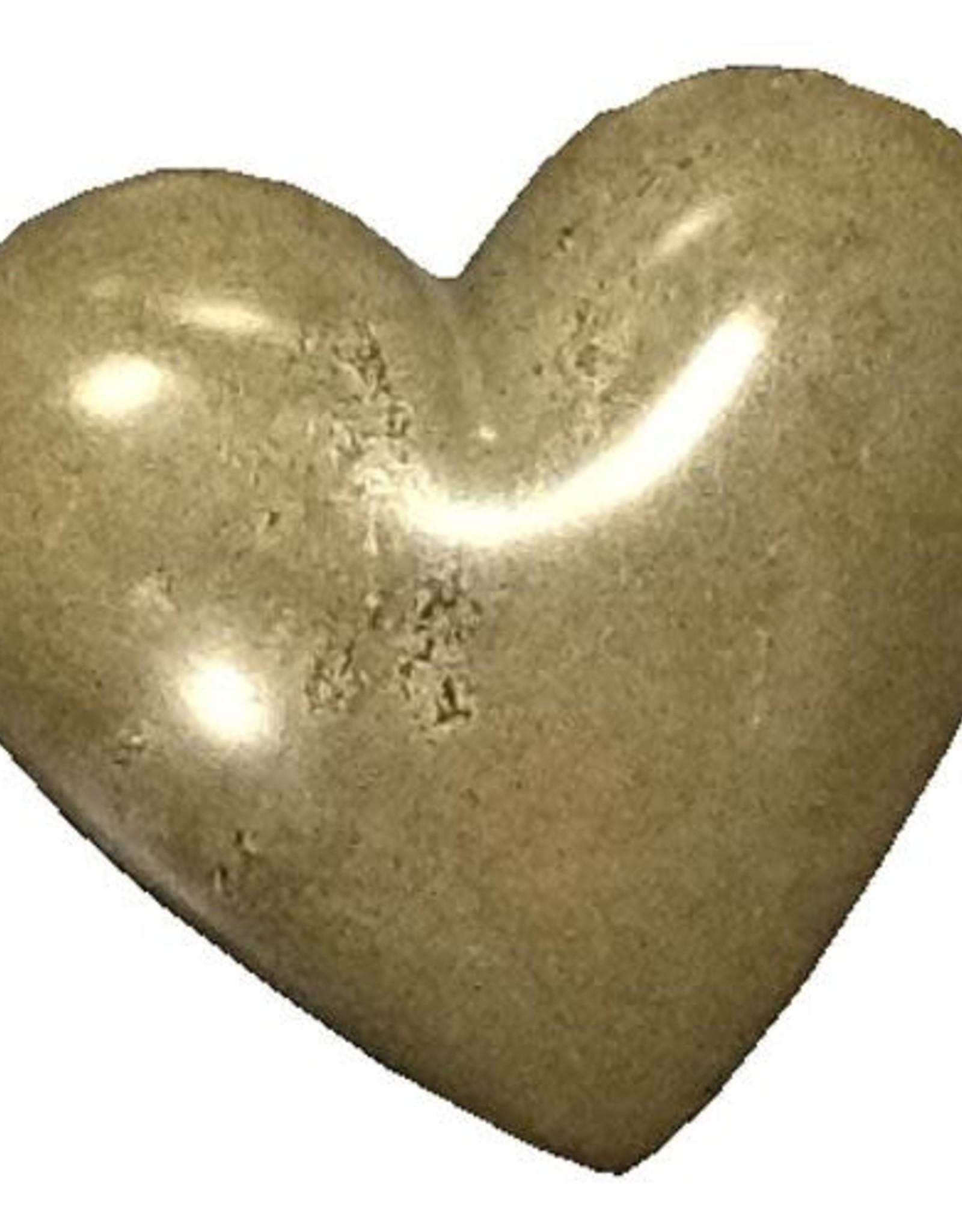 Soapstone Hearts Solid Gray