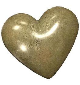 Soapstone Hearts, Solid Gray, Kenya
