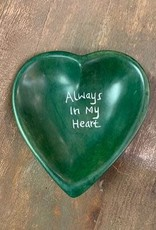 Always in My Heart Soapstone dish