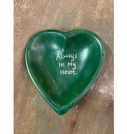 Always in My Heart Soapstone Dish, Kenya
