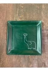 Elephant Heart Square Soapstone Dish,  Kenya