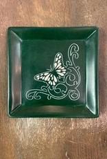 Kenya, Butterfly Green Soapstone Dish