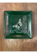 Butterfly Green Soapstone Dish, Kenya