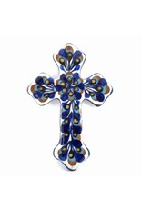 Hand Painted Medium Ceramic Cross, Guatemala
