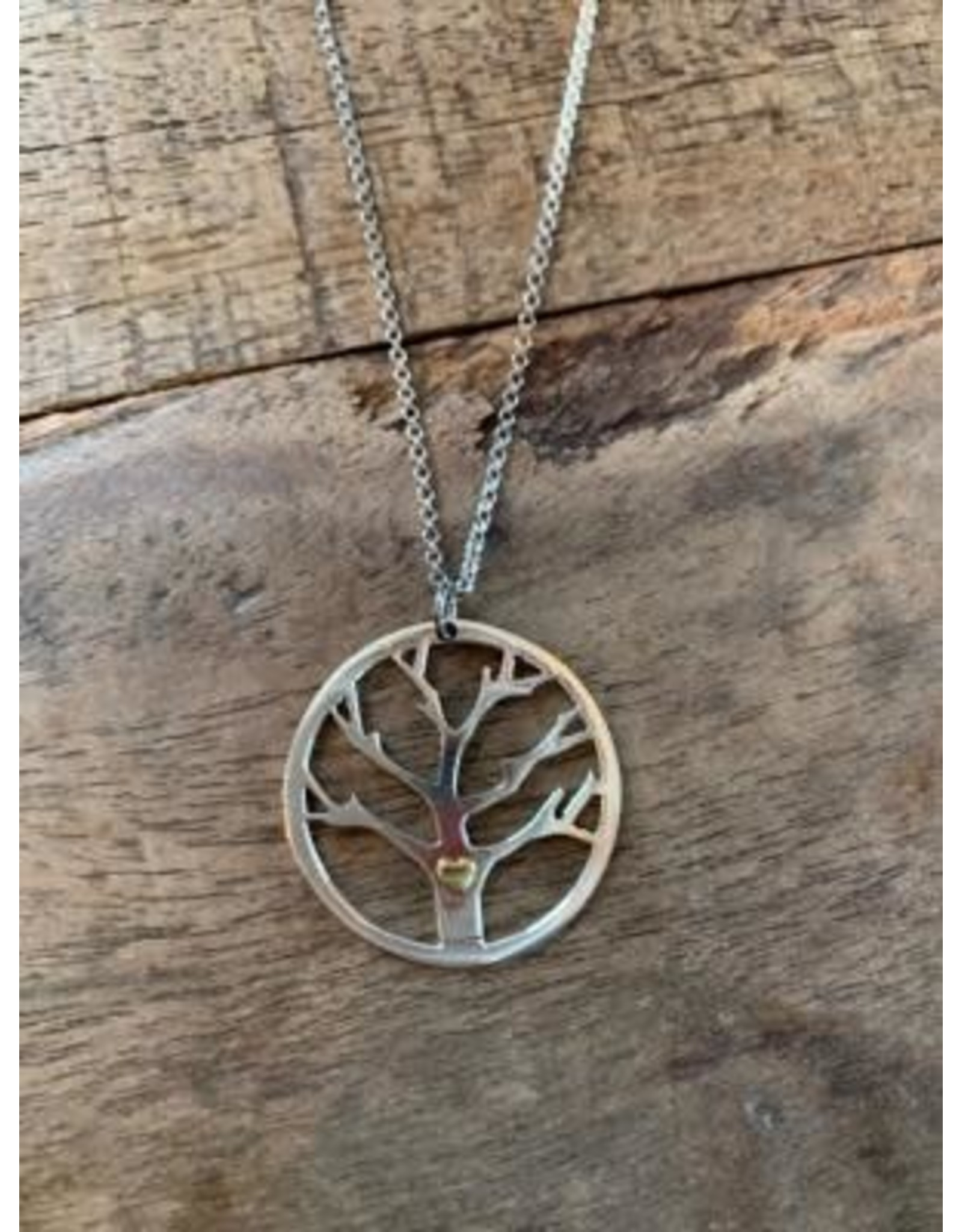 Sterling Tree Pendant Necklace