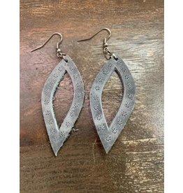 Oval Leather Earrings