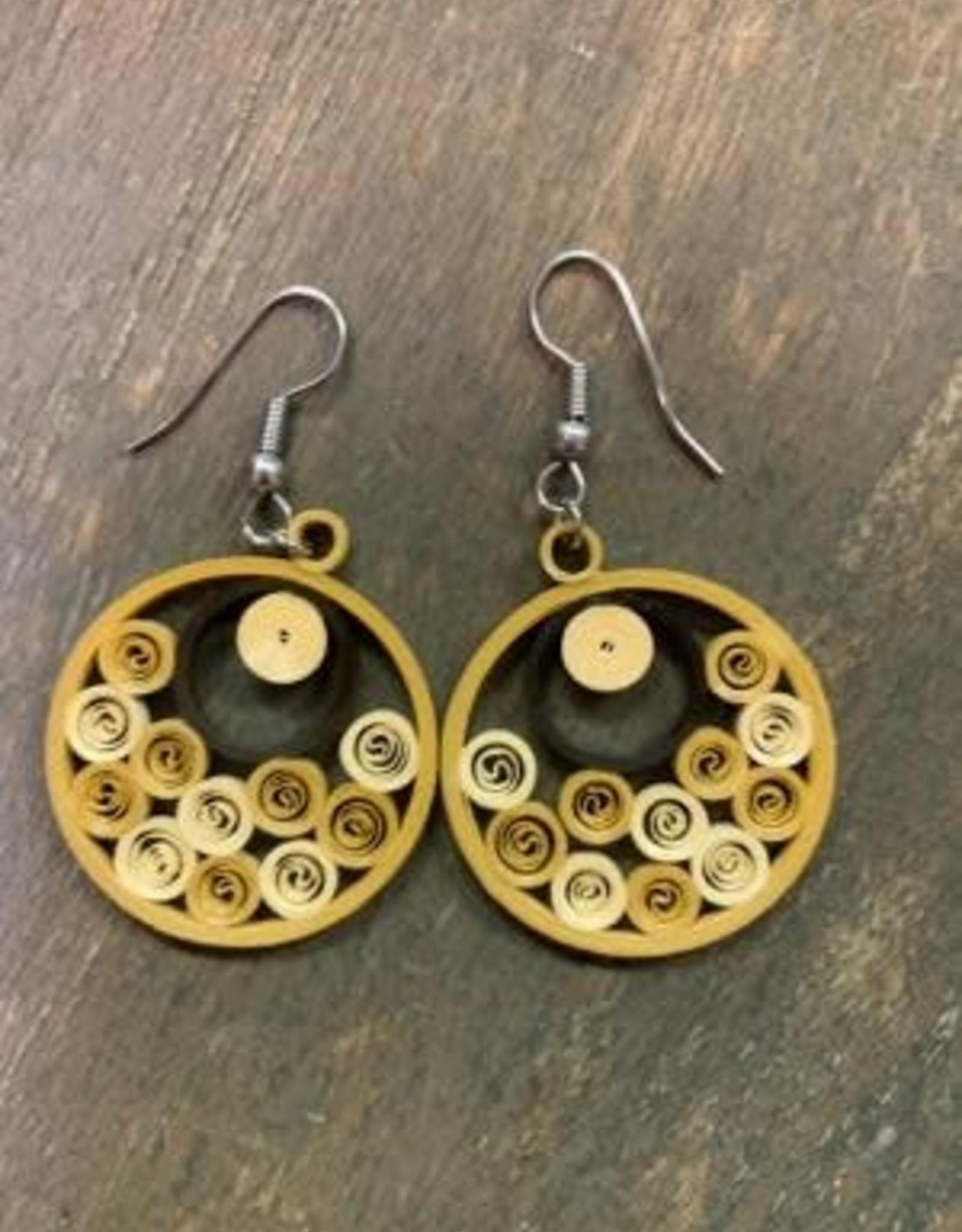 Quilled Earrings Sandy Sea of Swirls