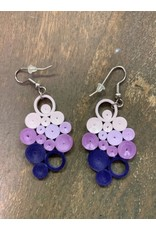 Quilled Earrings Indigo Ombre Bunch, Vietnam