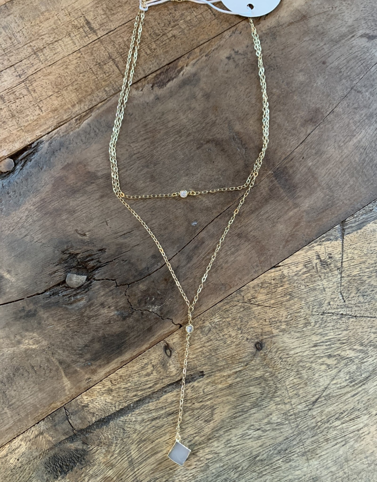 Meredith,  Agate & Gold Layered Necklace
