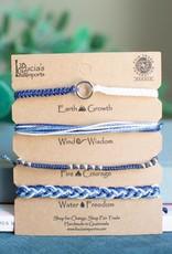 Carded Bracelet Set Blue