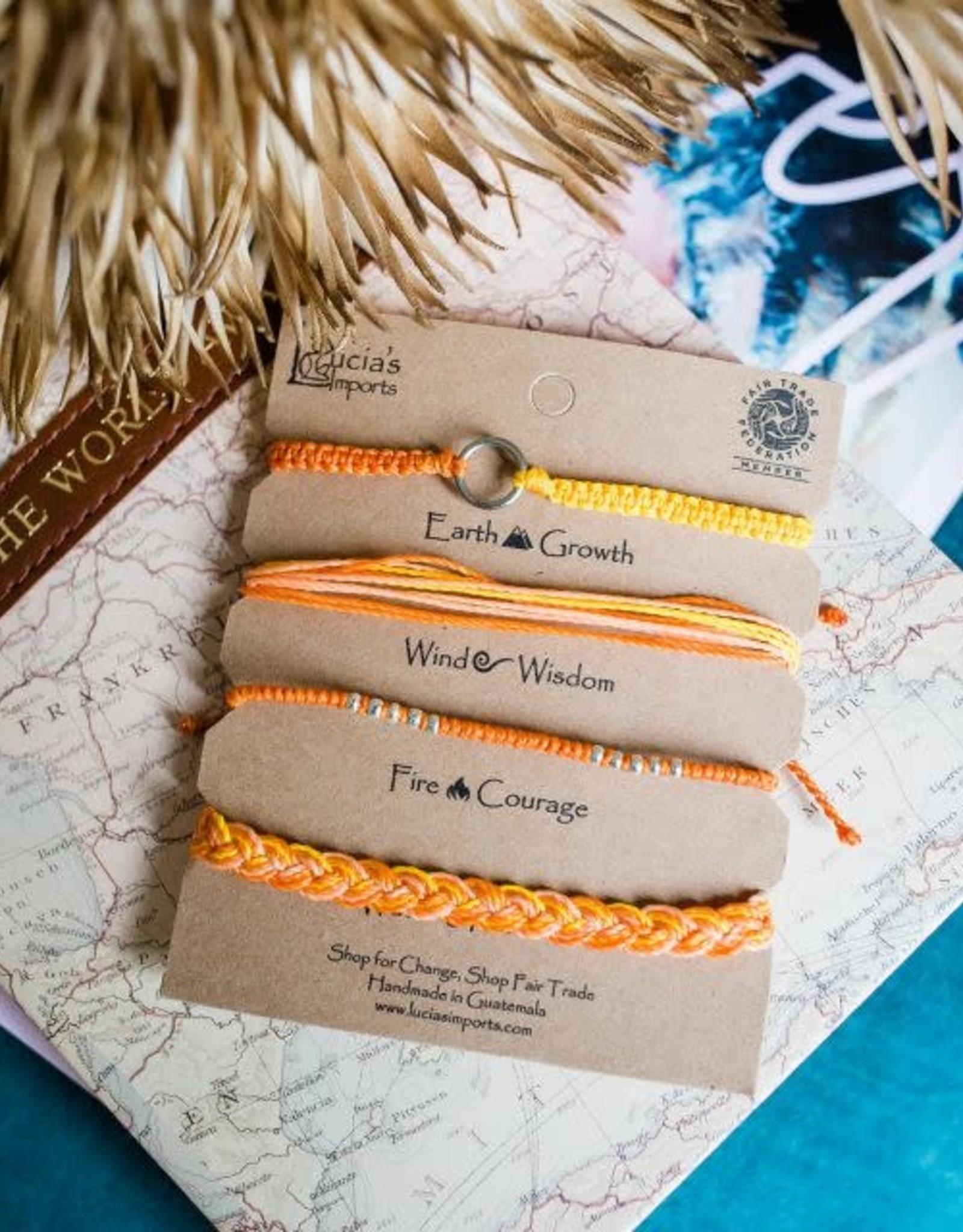 Guatemala, Carded Bracelet Set Orange