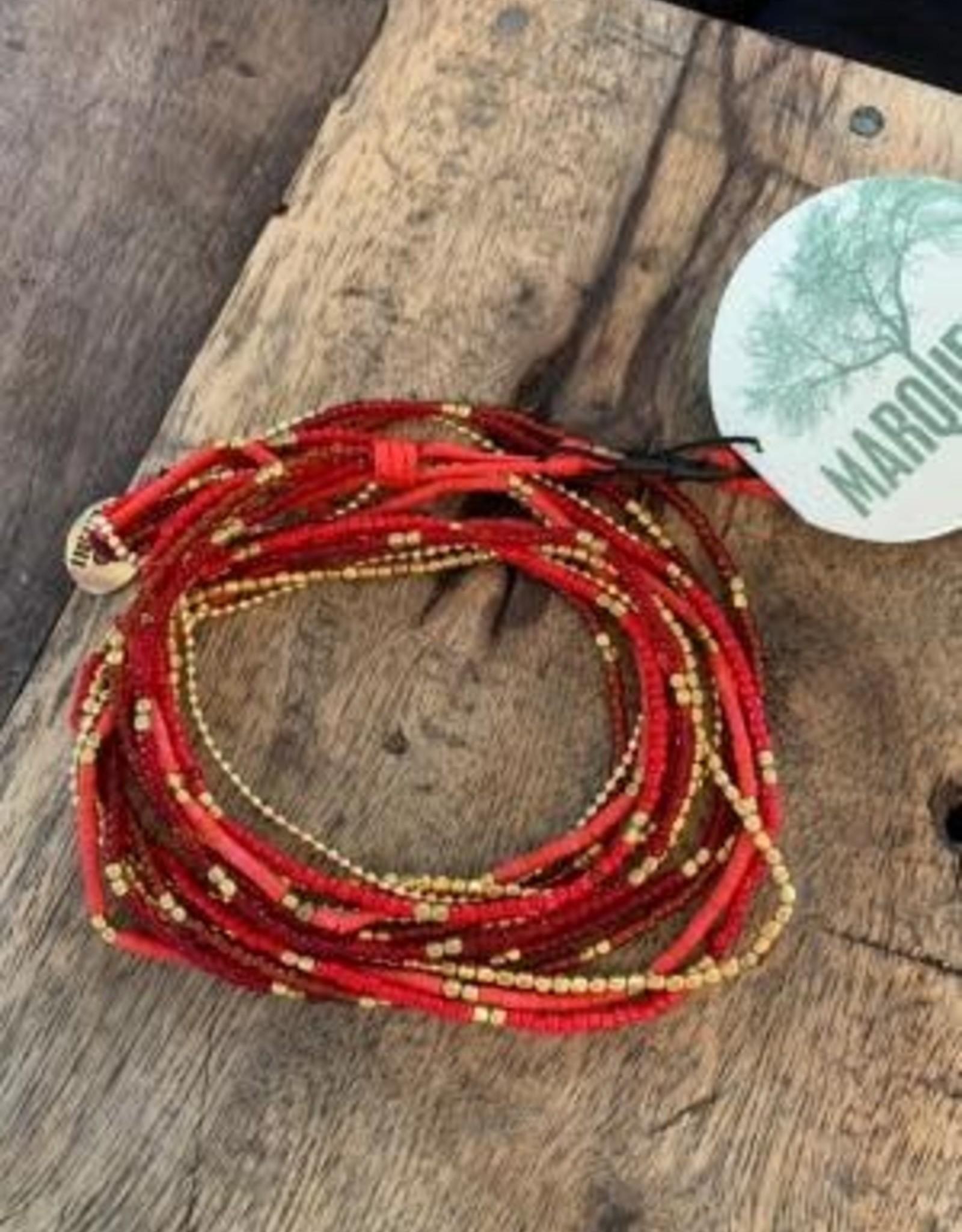 Lauren Necklace OR Bracelet, RED
