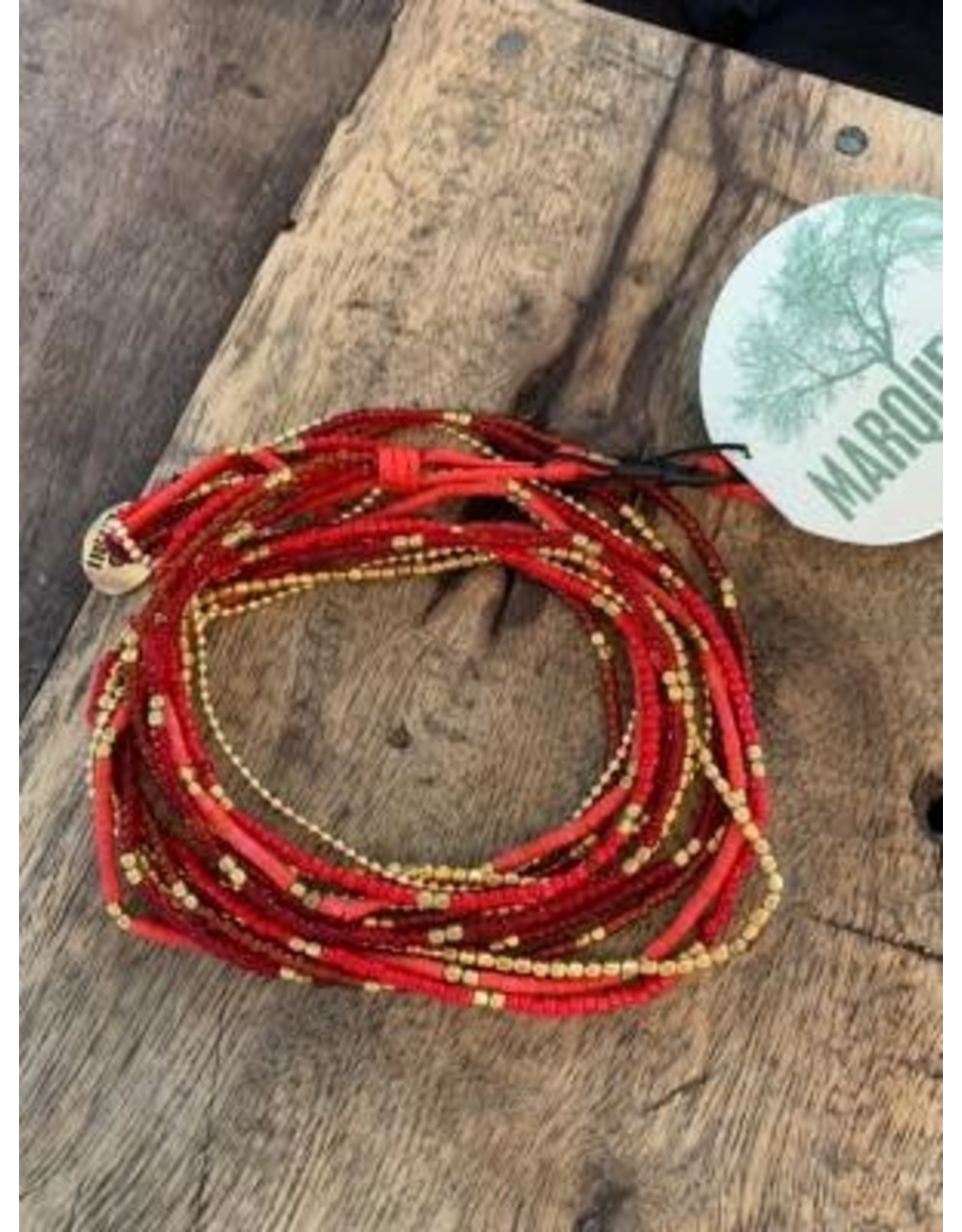 Lauren Necklace OR Bracelet, RED