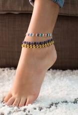 Beaded Flower Anklet
