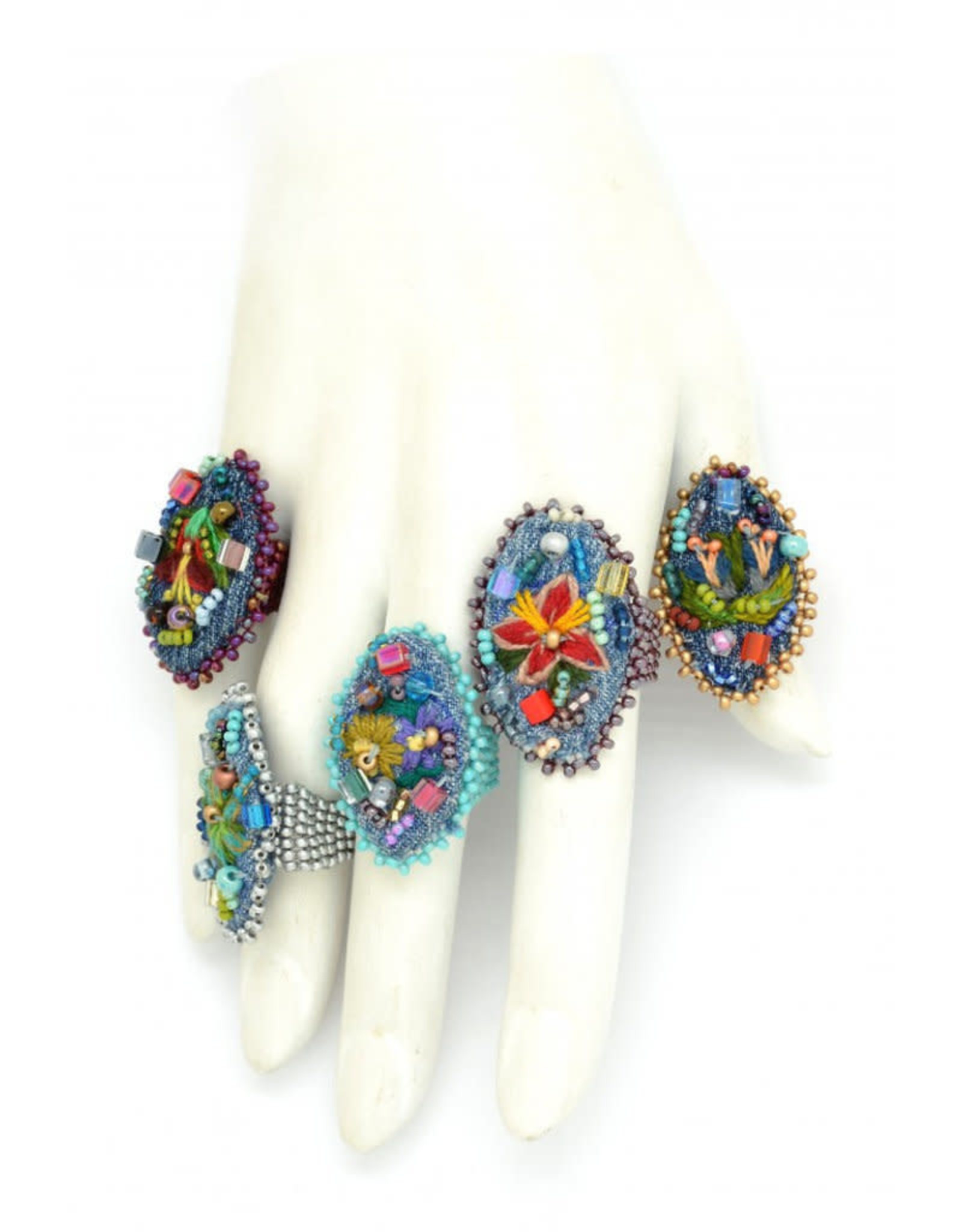 Frida Embroidered Ring