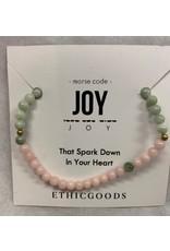 Morse Code Bracelet  Joy