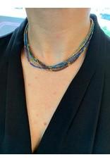 Lauren Necklace OR Bracelet, BLUE JEAN