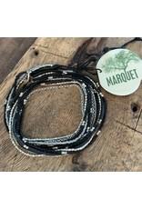 Lauren Necklace OR Bracelet BLACK