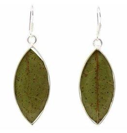 Sterling Plated w/ Real Leaf Earrings