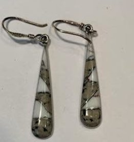 Long Drop Dalmatian and Buffalo Earrings