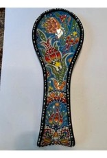 Ceramic Spoon Holder, Turquoise