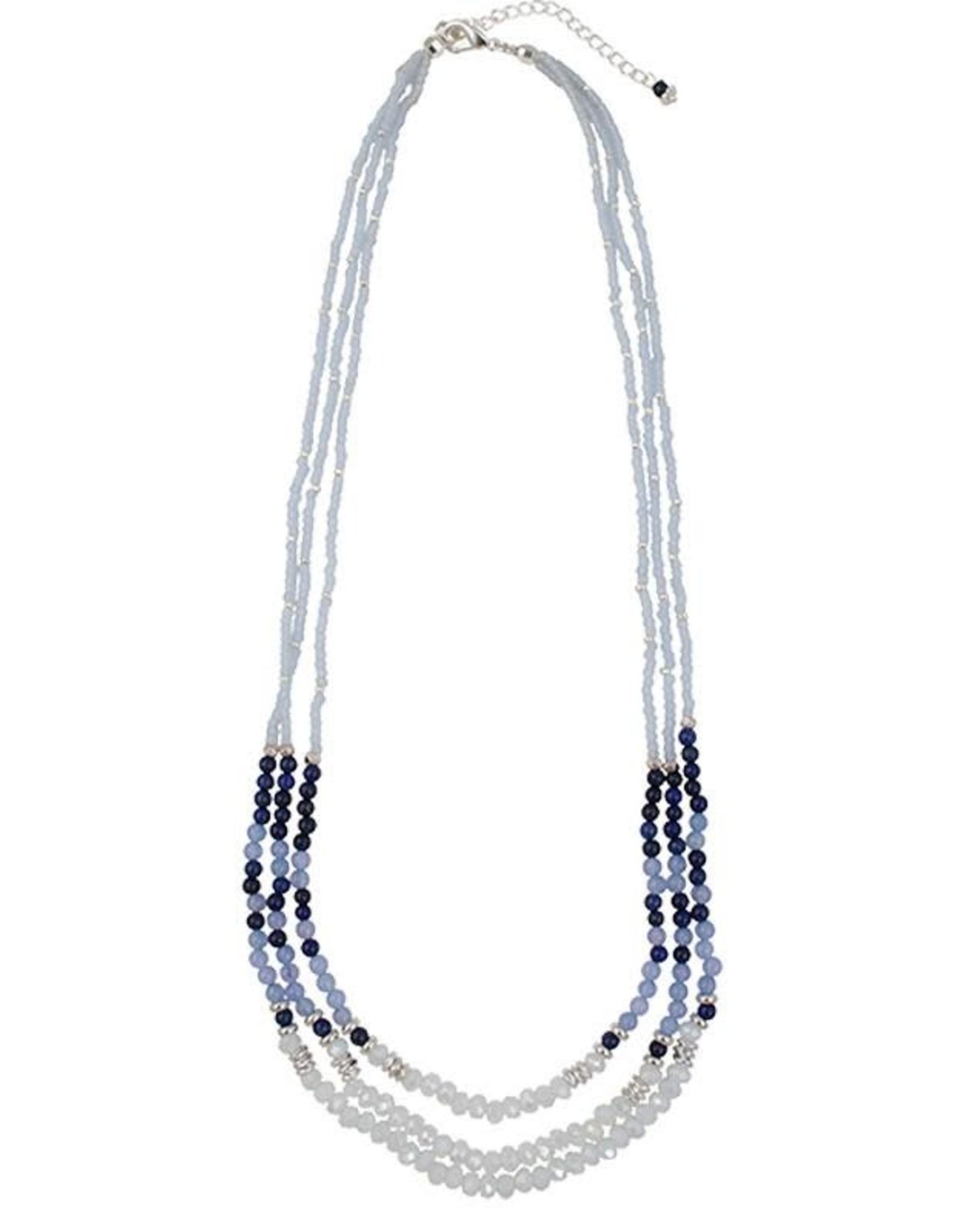 Maia Necklace, Blue