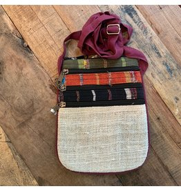 Hemp Cotton Crossbody Bag, Nepal