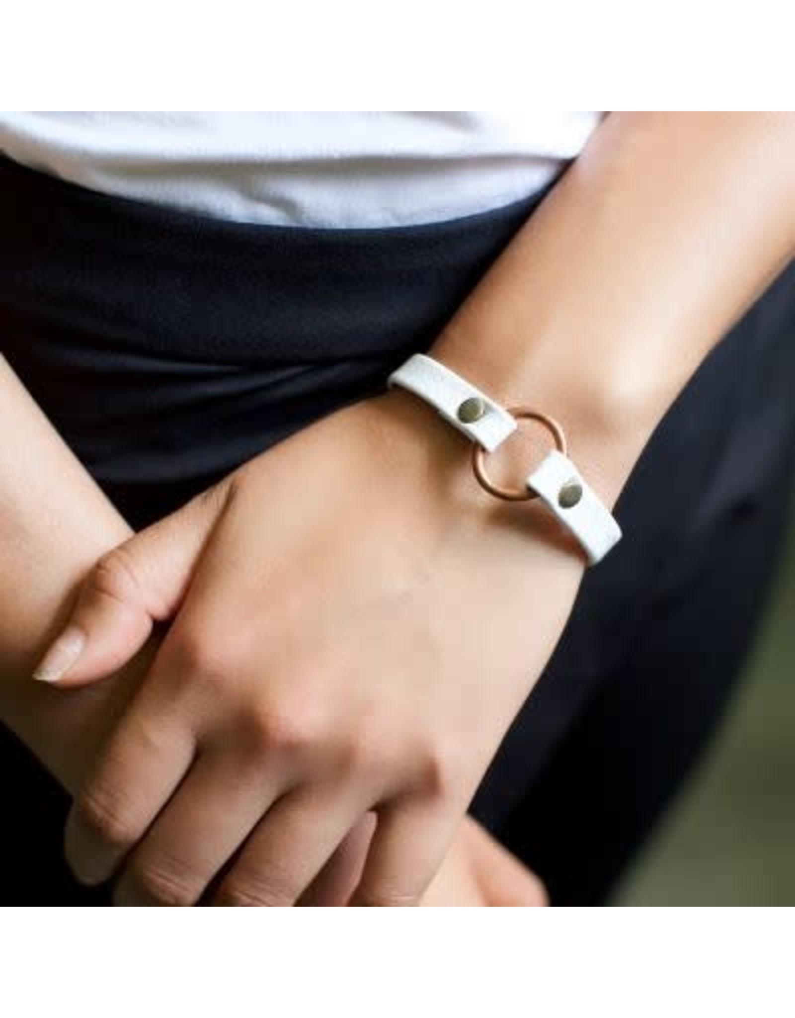 Copper Bridle Leather Bracelet